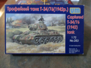 UM-HUMBROL---WWII -T-34/76 German Tank Model Kit