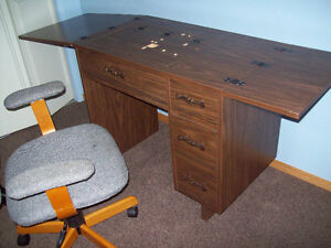 sewing machine desk and chair