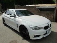 2015 (15) BMW 420D GRAN COUPE M SPORT AUTO COUPE + WHITE + PRO-NAV + LEATHER