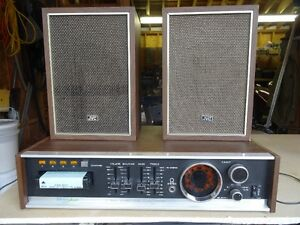 Electrophonic 8 track player with AM/FM receiver and Speakers