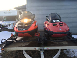 Sleds and trailer