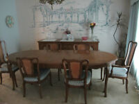 Dining Rm Table, 6 Chairs, Hutch&Buffet,Estate Sale-many items
