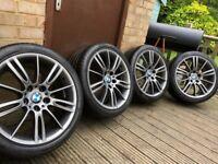 """Genuine BMW 3 Series MV3 18"""" M Sport Alloy Wheels & Tyres E90 E91 E92 E93 E46 Z4 Ferric"""