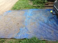 Large blue tarp. Used.