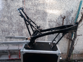 Gas Gas Trials bike frame and reat swing arm