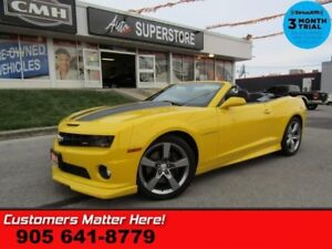 2011 Chevrolet Camaro 2SS  6.2L AUTO LEATHER P/SEAT BOSTON-AUDIO