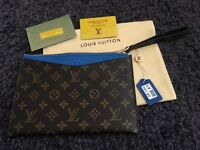 Louis Vuitton Monogram clutch genuine leather