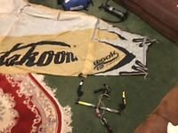 Takoon Wook 12m kitesurfing kite, bar, pump & bag