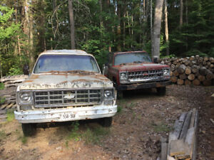 2 Square body GM trucks