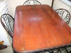 Rod Iron Table & 4 Chairs - Must sell ASAP