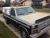 1985 Ford F-150 Silver Pickup Truck