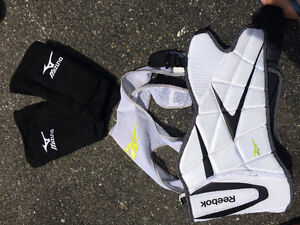 Lacrosse elbow and rib pads