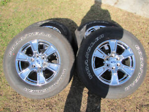 """2017 F150 18"""" Chrome Wheels and Tires"""
