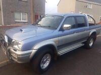 2001 Mitsubishi L200 Pick Up Blue, 2.5 litre diesel, 170000