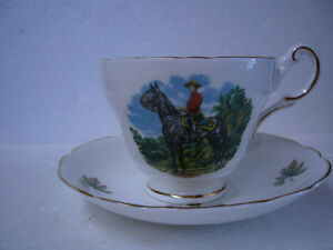 VINTAGE REGENCY RCMP CUP AND SAUCER.