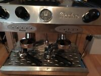 Fracino 2 group commercial coffee espresso machine