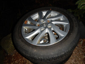 "Mazda 16"" Alloy rims with tires"