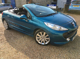 2009 '09' Peugeot 207 CC 1.6 GT Coupe Cabriolet Convertible. Petrol. Px Swap