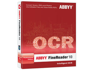 Abbyy FineReader 10_Portable PDF converter/SCAN TO DOC./professional edition