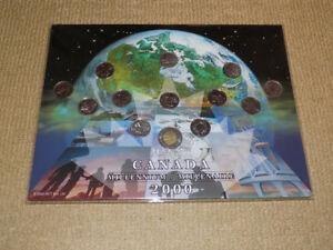 CANADA MILLENIUM 2000, 13 COIN SET WITH COLLECTIBLE HOLDER