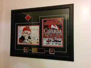 Vancouver 2010 Olympic Men's Hockey Champions Framed Picture