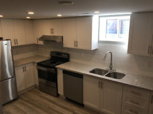newly completed 2 bedroom  and a Den Basement apartment
