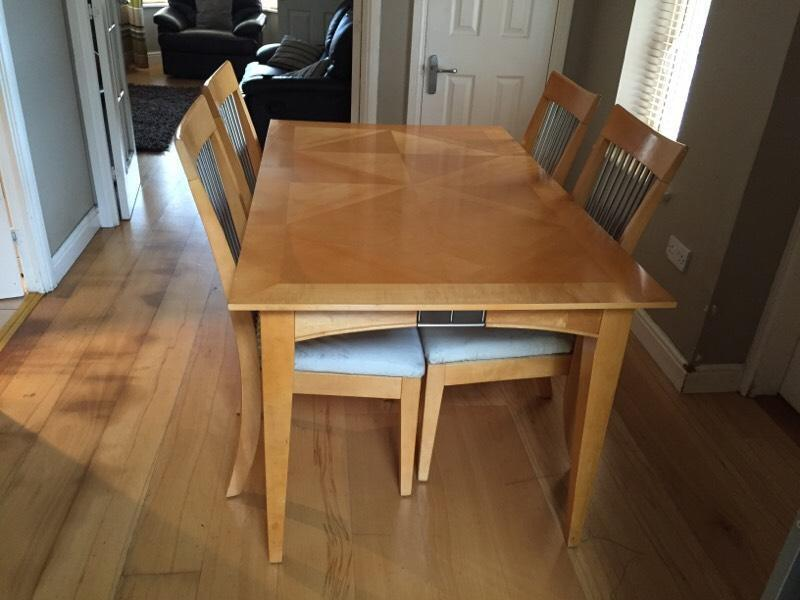 dining table 4 chairs in robroyston glasgow gumtree