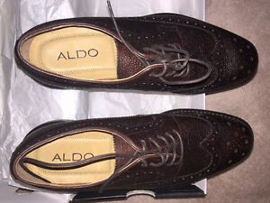 BRAND NEW ALDO'S BROWN WING TIP SHOES