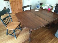 Solid wood table oak