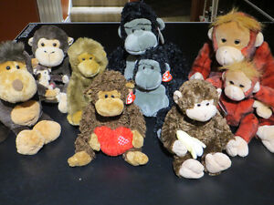 Collection Monkeys Singes - Many TY's Great condition