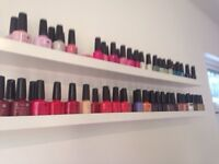 Job lot beauty items shellac polish / nail station / beauty couch / stool etc