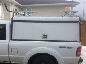 Truck Cap With Ladder Rack And Side Cargo Storage $600 ono
