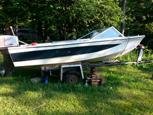 Northcraft 16 foot with 70hp with tilt and trim plus trailer