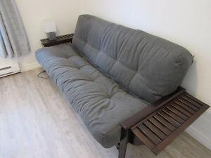 superbe futon brun chocolat