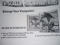 "T.V. Screen Magnity FIT 14 ""TO 33"" T.V. NEW STILL IN BOX"
