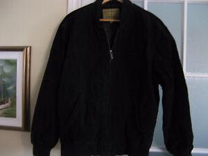Manteau automne en suède noir pour homme de Boston Harbour