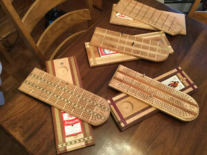 Hand-crafted cribbage boards