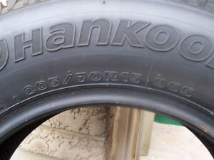 4 GREAT HANKOOK  IPIKE  RC01 WINTER TIRES-LIKE NEW!