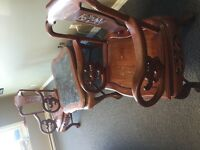 Carved Mahogany Chair set