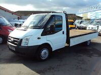 2008 FORD TRANSIT 2.4TDCi DURATORQ 100PS 350EF WHITE DIESEL ALLOY DROPSIDE LWB