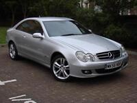 EXCELLENT EXAMPLE!!! 56 REG MERCEDES-BENZ CLK 2.1 CLK220 CDI AVANTGARDE 2dr AUTO, LONG MOT WARRANTY