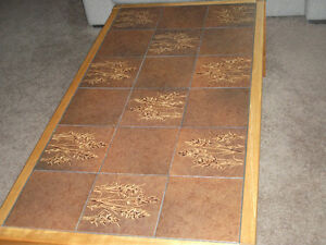Coffee Table with inlaid ceramic tile