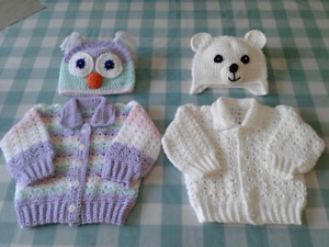 Crochet baby sweaters sets 30.00 a set6