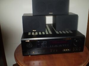 DENON AVR-1404 RECEIVER + DENON SPEAKERS With  AM/FM