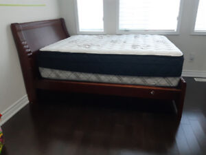 Double Size Bed Frame &  Sealy Mattress