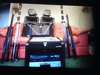 Singing. Karaoke. DJ equipment