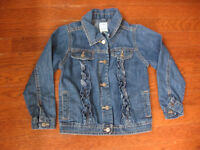 Old Navy Jean Jacket With Ruffles $10. Size 5
