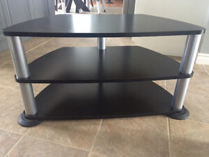 TV stand (black with chrome)