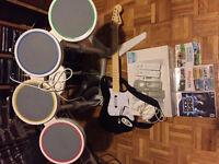 Wii and Rockband Set