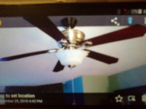 Ceiling fan for those hot and humid nights!